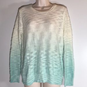 Forever 21 blue ombré knit sweater